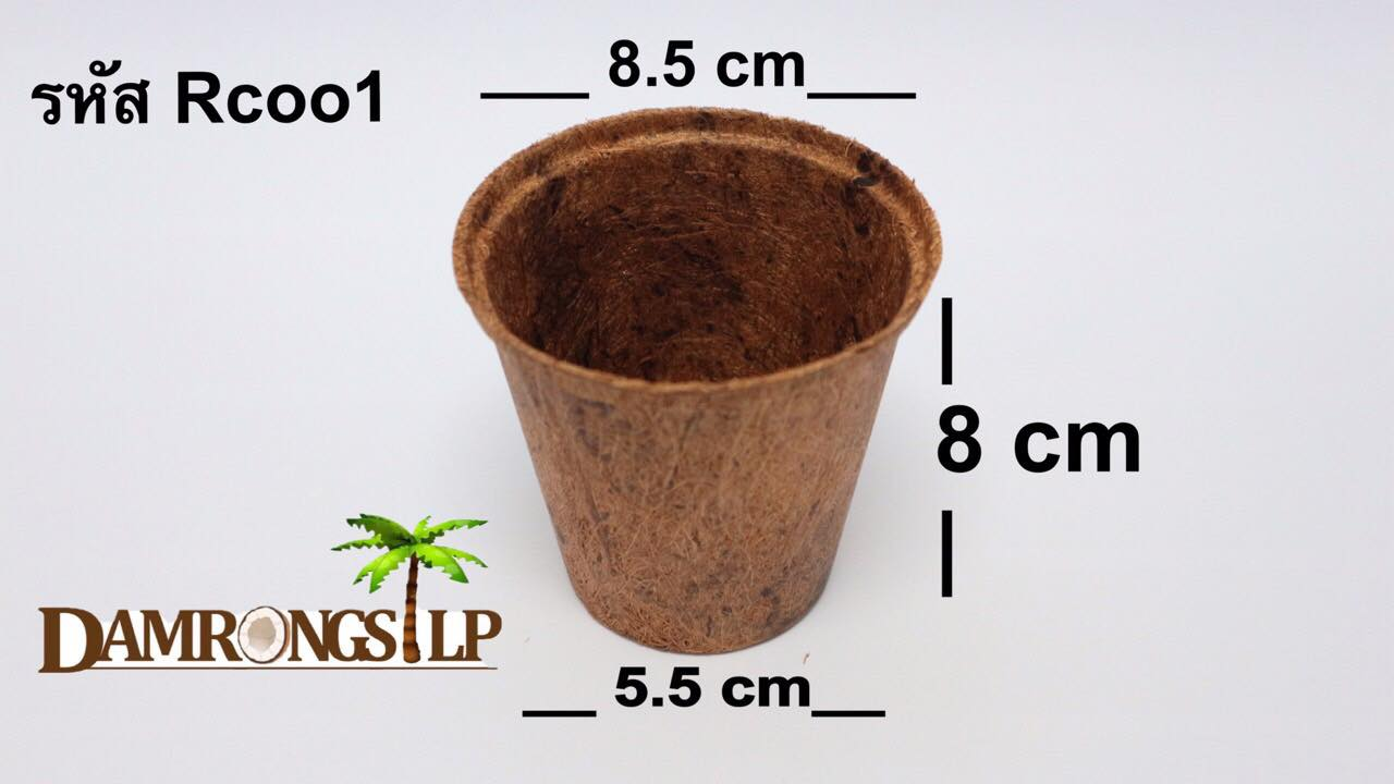 Biodegradable Pots in various shapes and sizes squared and round