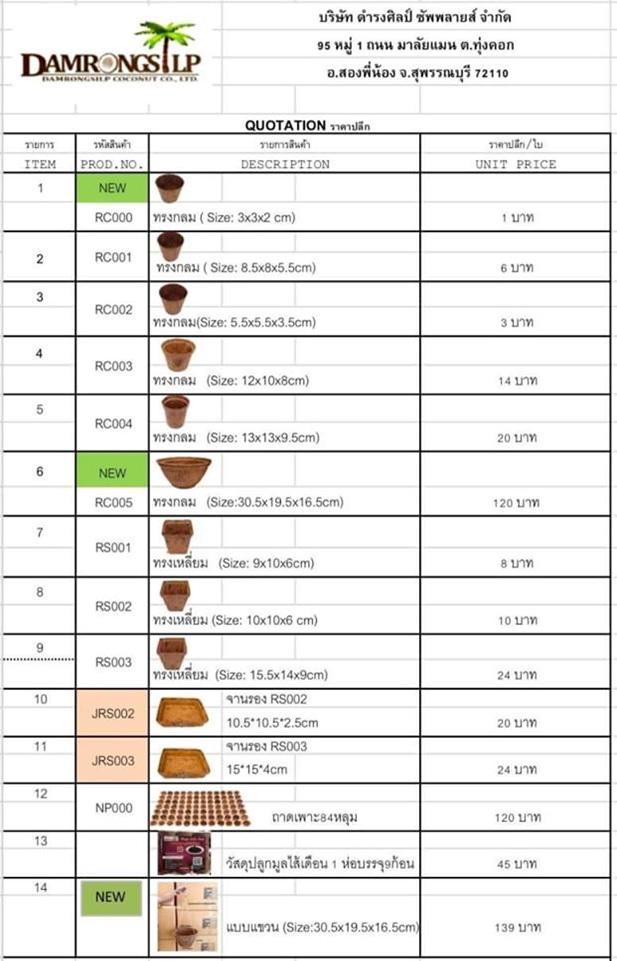 Coir Pots Prices / Biodegradable Pots Prices