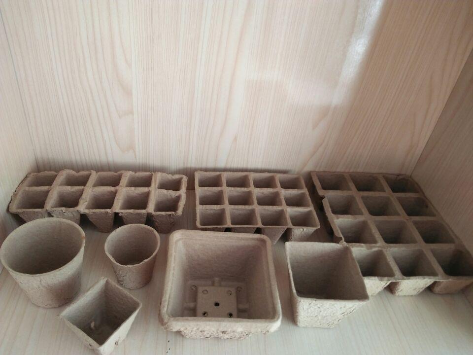 Paper pulp pots