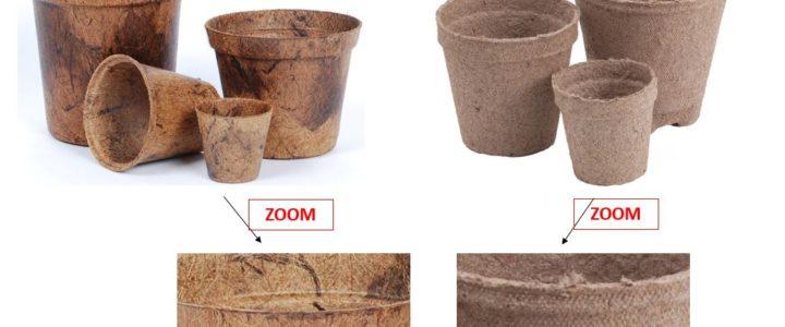 Jiffy pots vs natural fiber coco pots